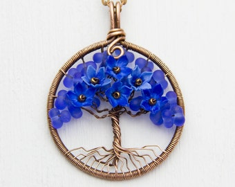 """Tree-Of-Life Necklace 1.6"""" Pendant Tree-Of-Life Jewely Copper Wire Wrapped Pendant Copper Jewelry Wire Wrapped Modern Rustic Pendant JF22"""
