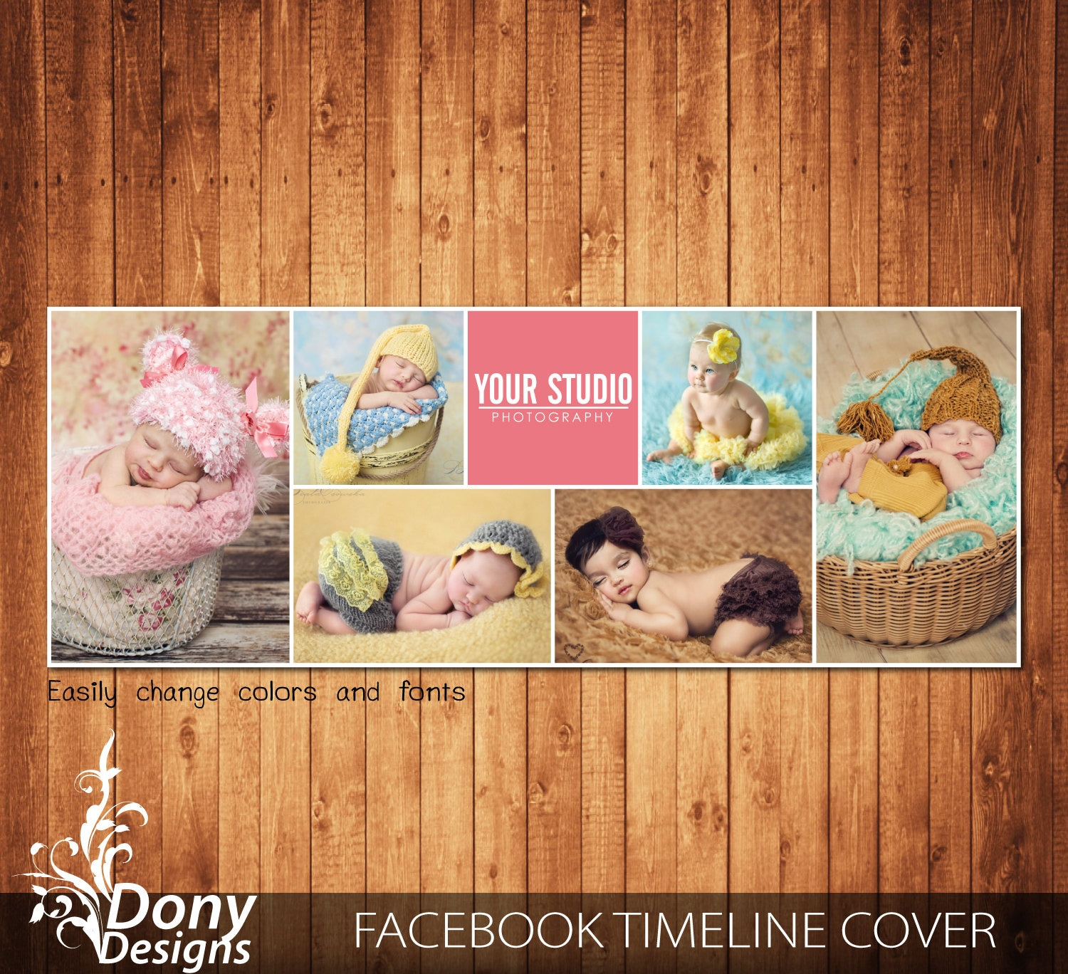Facebook Timeline Cover Template Photo Collage Photoshop Etsy