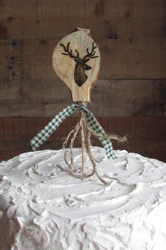 Deer Head Cake Topper Deer Cake Topper Hunting Cake Topper Etsy