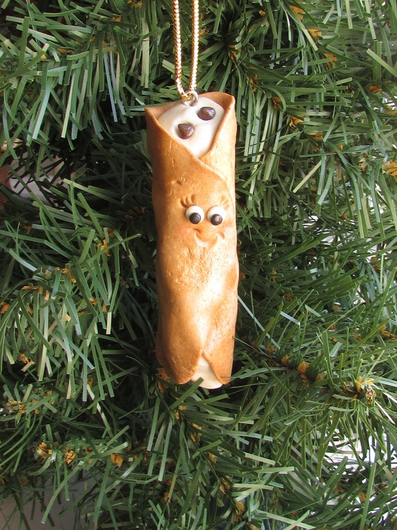 Cannoli Christmas Ornament Italian Dessert Christmas Ornament Etsy