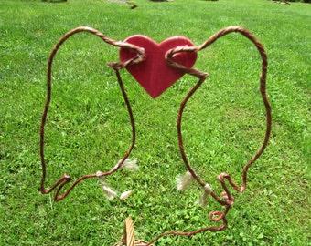 Love Birds Rustic Wire Wedding Cake Topper, Bird Wedding Cake Topper, Love Birds Cake Topper, Love Birds Wedding