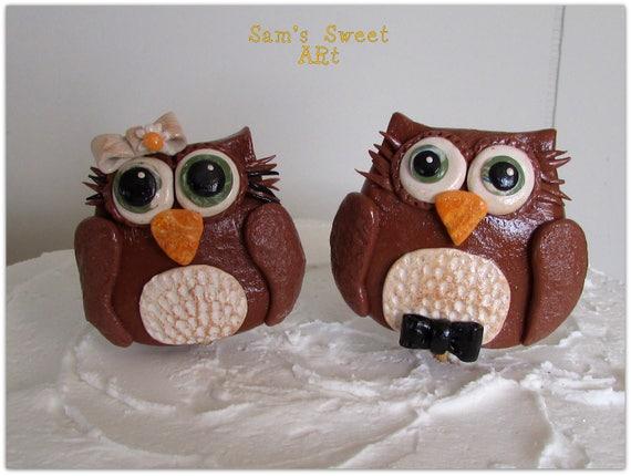 Owl Wedding Cake Topper, Owl Cake Topper, Owl Wedding, Owl Decor ...