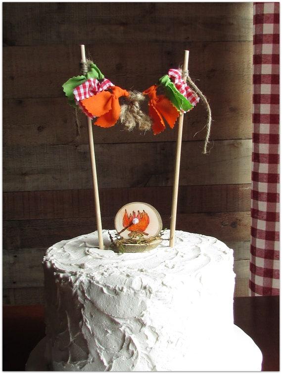 Wondrous Camping Cake Topper Camp Camping Birthday Decor Orange Green Etsy Funny Birthday Cards Online Bapapcheapnameinfo