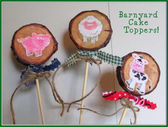 Barnyard Cake Toppers Birthday Farm