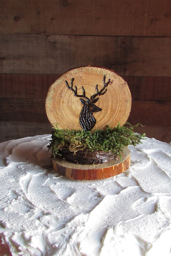Deer Cake Topper Buck Rustic Hunting