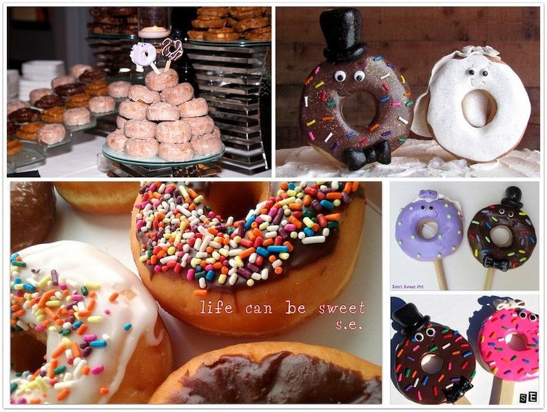 Donut Wedding Cake.Donut Wedding Cake Toppers Bride And Groom Custom Wedding Toppers Doughnut Wedding Donut Cake Toppers Custom Doughnut Wedding Donut Tower