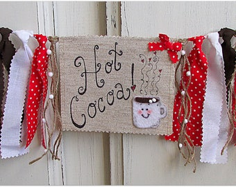 Hot Cocoa Banner, Hot Cocoa Bar, Hot Chocolate Bar, Hot Chocolate Decor, Winter Party, Christmas Party Decor, Hot Cocoa Party, Coffee Decor
