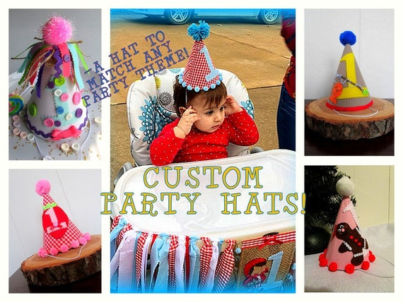 Custom Birthday Hat First Decor Personalized Party