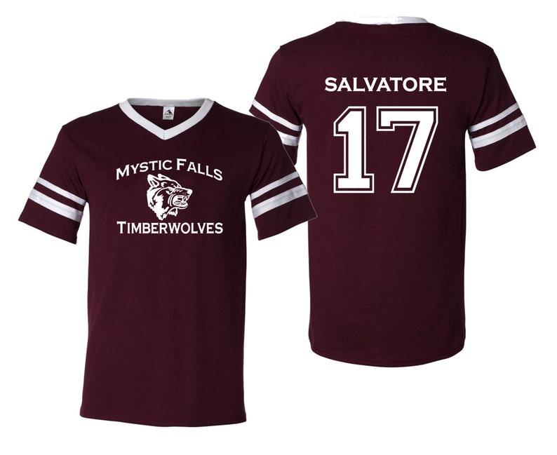 Vampire Diaries Salvatore 17 Unisex Jersey Etsy