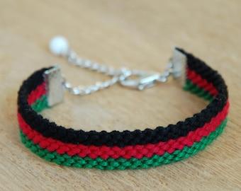Afghanistan flag bracelet, Adjustable afghan flags Kabul friendship bracelet