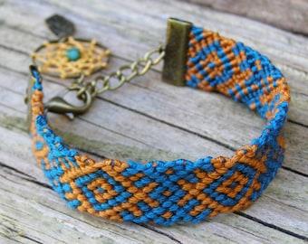 Wayuu bracelet, Aztec bracelet, Bracelet femme, Dreamcatcher bracelet, Lace dream catcher bracelet, Friendship bracelet, Best friend gift
