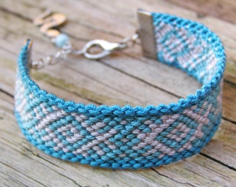 Snake totem charm cuff bracelet, Slavic kilim bracelet, Ethnic fiber jewelry, Wayuu ikat pattern pagan clothing, Jadeite friendship bracelet