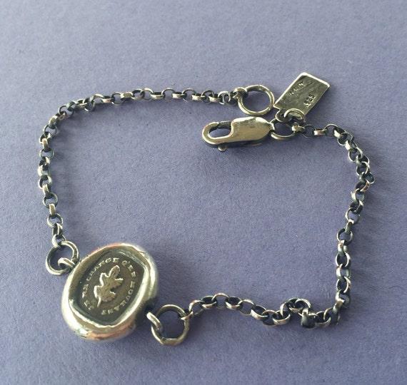Bracelet, I remain steadfast.....  Sterling silver, various lengths.