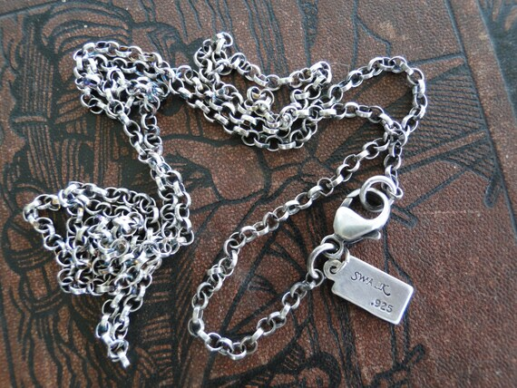 2.4mm Chain,  Longer, heavier, Sterling Silver Rolo Chain.