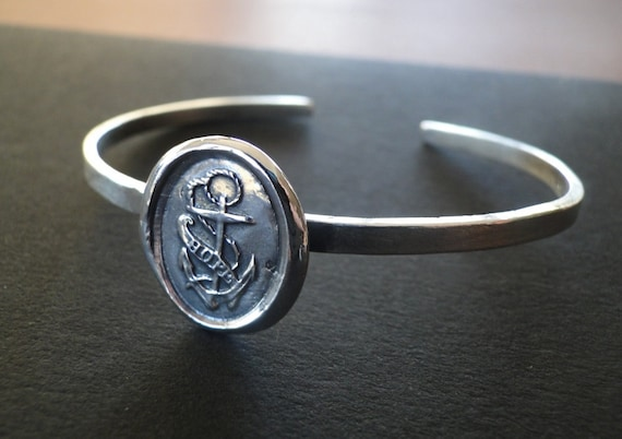 Hope Cuff...... the sailor cuff.  Antique wax letter seal.