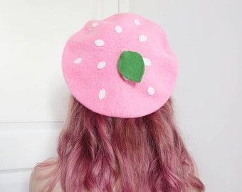 12bbd9741a54b PRE ORDER  Red or Pink Straw-Beret