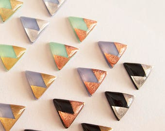 Triangle Stud Earrings - Hypoallergenic Titanium Posts