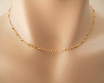 Delicate Gold Ball Chain - Gift For Her