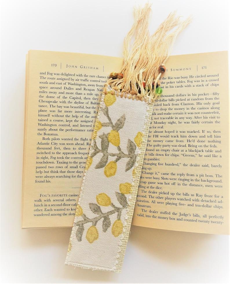 e0e4622248d2 Ivory Rattan Bookmark Eco Friendly Tasseled Bookmark Floral