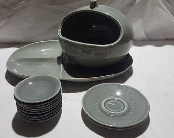 13 Pieces Ben Seibel Steubenville Raymor Contempora Mist Gray