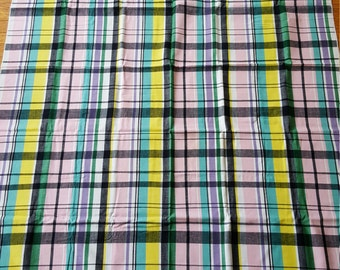 1 of 2 Simtex Mills Pavilion Plaid 1950's Tablecloth Pink Colorway Russel Wright Go-With