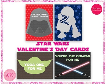 image relating to Printable Star Wars Valentine known as Star wars valentine Etsy