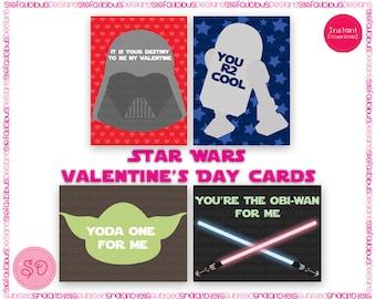 photo regarding Printable Star Wars Valentine known as Star wars valentine Etsy