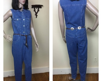 e8652209134 Vintage 80s Jumpsuit Denim Jumpsuit M