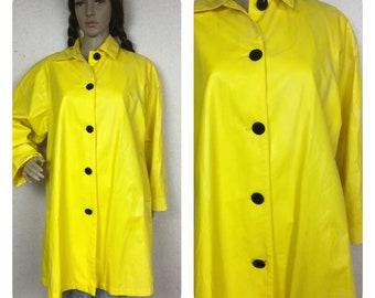 80s Raincoat vinyl Rain Slicker 278b7fc18a3