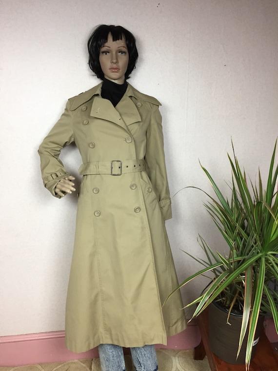 Vintage 70s trench coat ,1970s Khaki Princess Coat