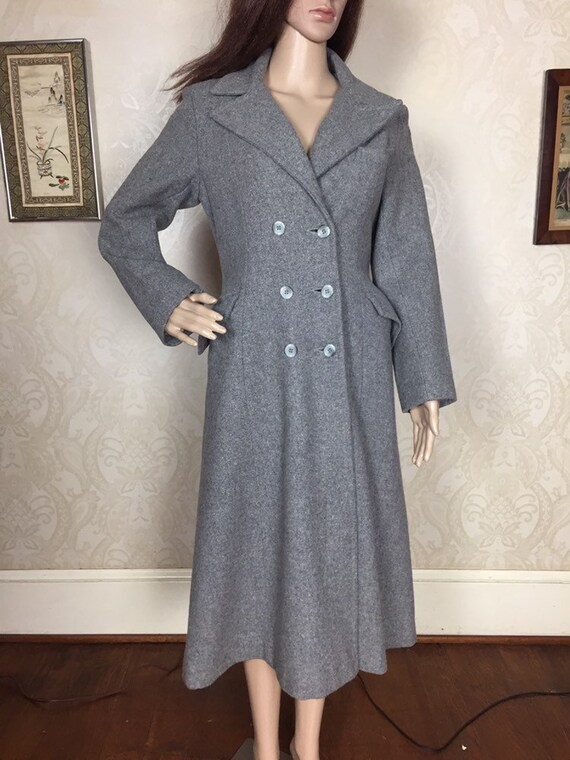 vintage 70s Wool Maxi Coat , SM