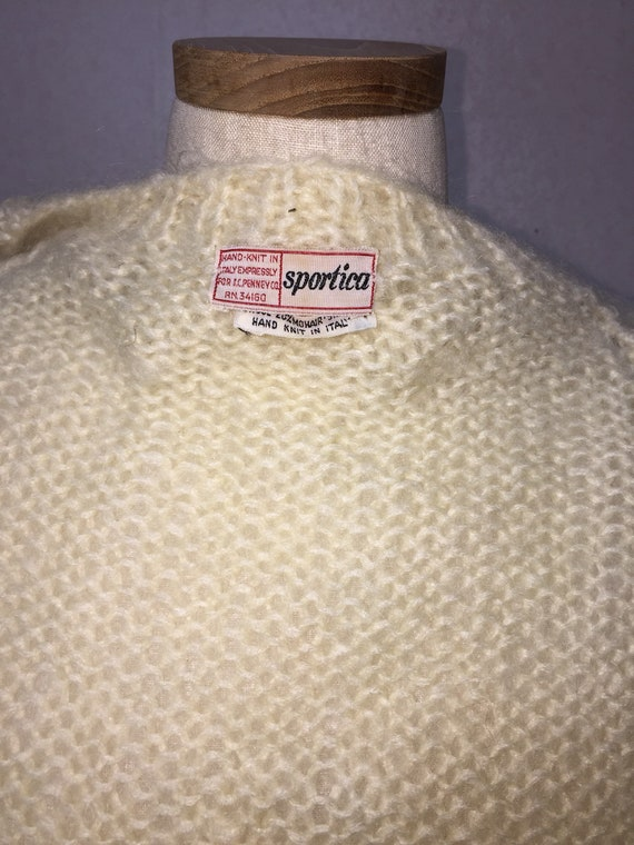 50s  Italian Mohair  Cardigan Sweater,  Vintage M… - image 8