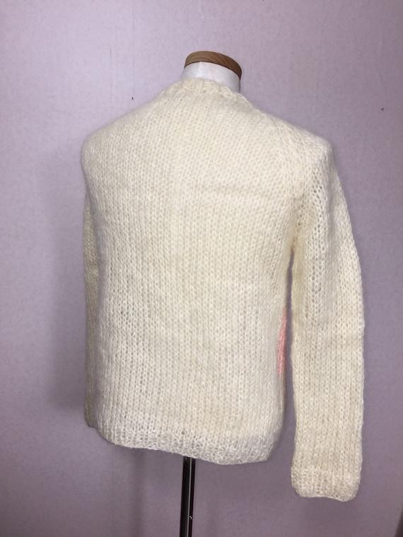 50s  Italian Mohair  Cardigan Sweater,  Vintage M… - image 5