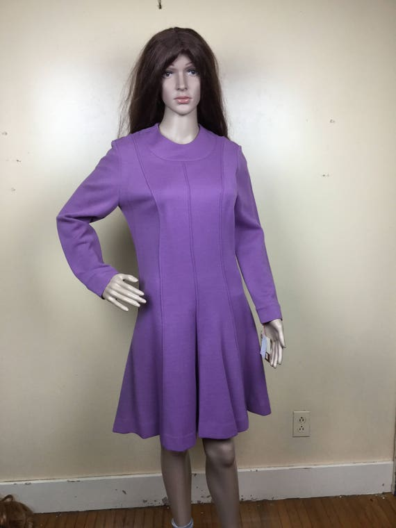 Vintage 70s  Lilac Mini Dress,Lavender Vintage 196