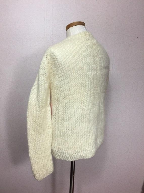 50s  Italian Mohair  Cardigan Sweater,  Vintage M… - image 3