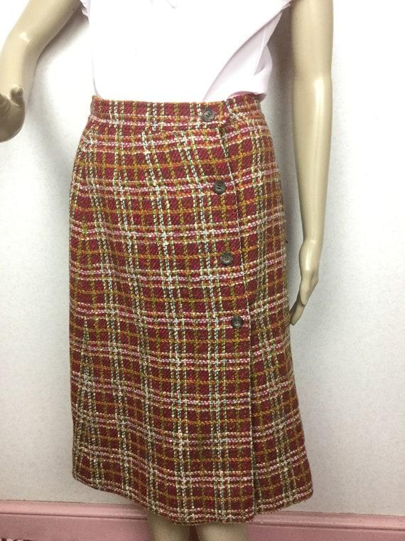 Vintage 50s Pendleton Skirt , Pencil Skirt. 1950s