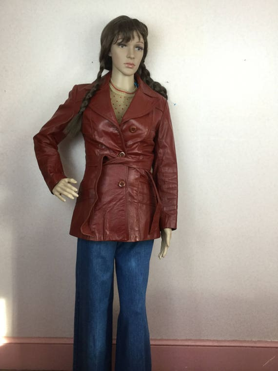 70s leather  jacket, Vintage Chocolate Browqn hipp