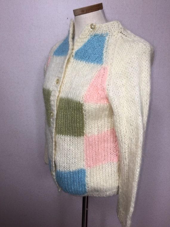 50s  Italian Mohair  Cardigan Sweater,  Vintage M… - image 6