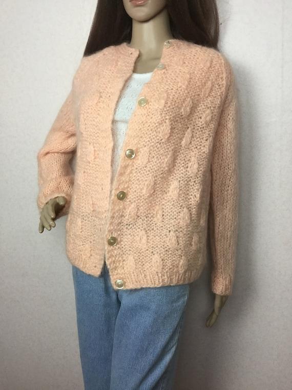 Vintage Italian Mohair  Cardigan Sweater,  Sm , 6… - image 4