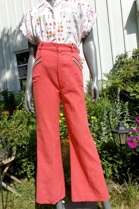 Vintage 70s Pants bell bottoms  high waist pants