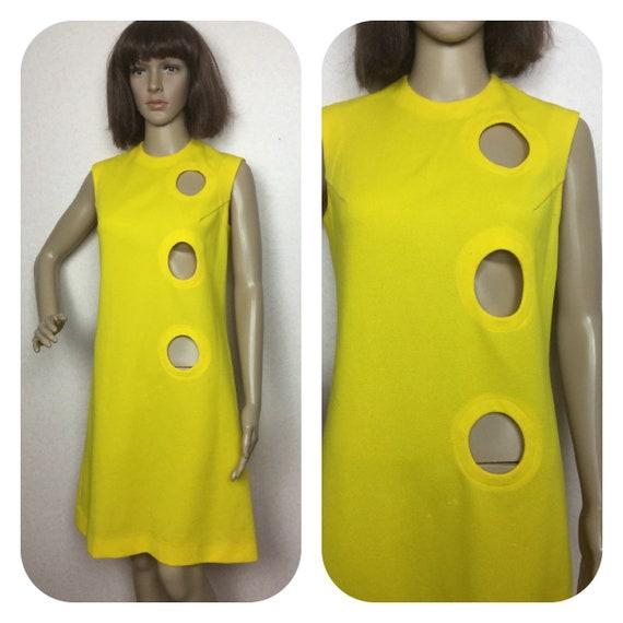 Vintage 60s mini dress, twiggy mod dress, 1960s Ci