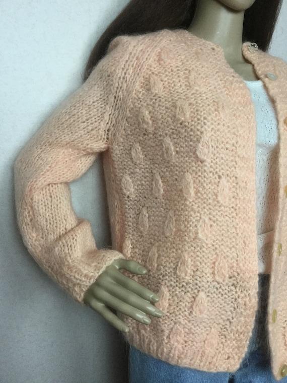 Vintage Italian Mohair  Cardigan Sweater,  Sm , 6… - image 6