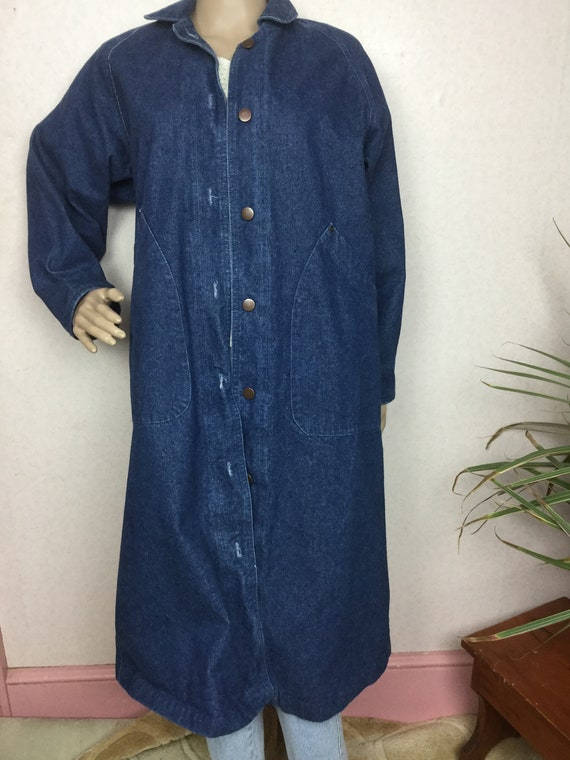 Vintage Lee Long  Denim oversized maxi duster Deni