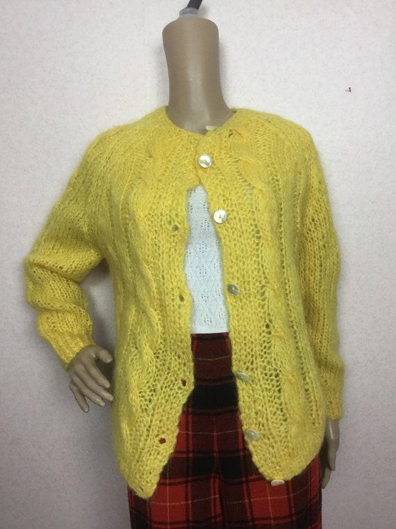 Vintage Italian Mohair  Cardigan Sweater   Cardiga