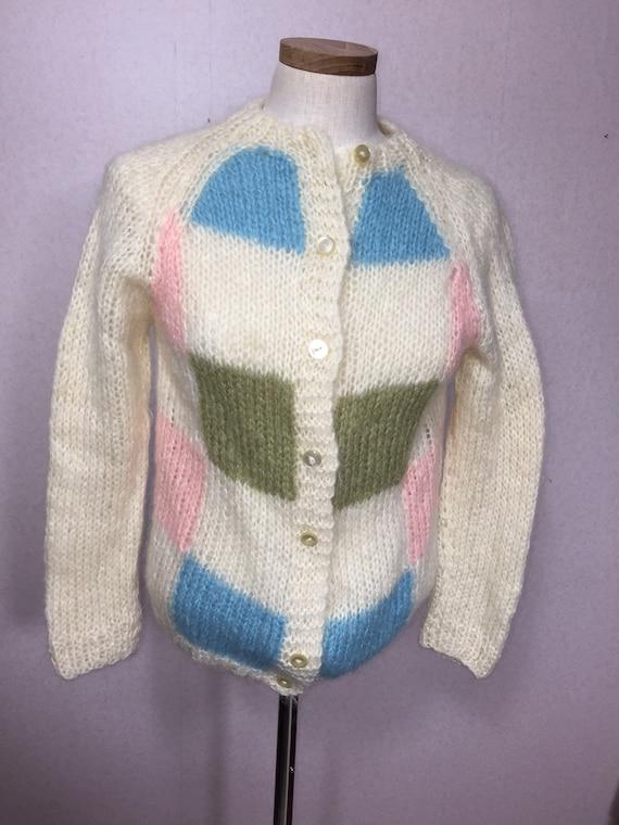 50s  Italian Mohair  Cardigan Sweater,  Vintage M… - image 4