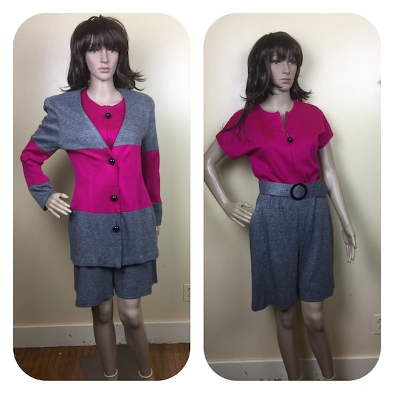 vintage 80s matching Romper & Jacket , 1980s Color