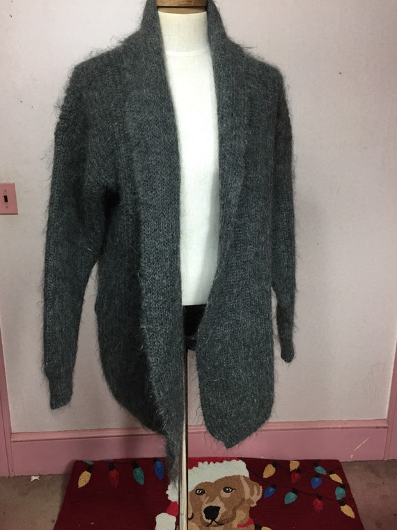 80s Mohair Sweater Jacket, 70% Mohair Vintage 1980