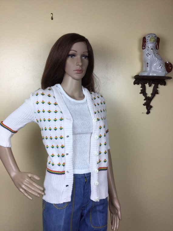 70s Sweater, Polka dot sweater  , 1970s Garland Sw