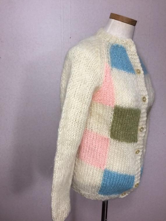 50s  Italian Mohair  Cardigan Sweater,  Vintage M… - image 7