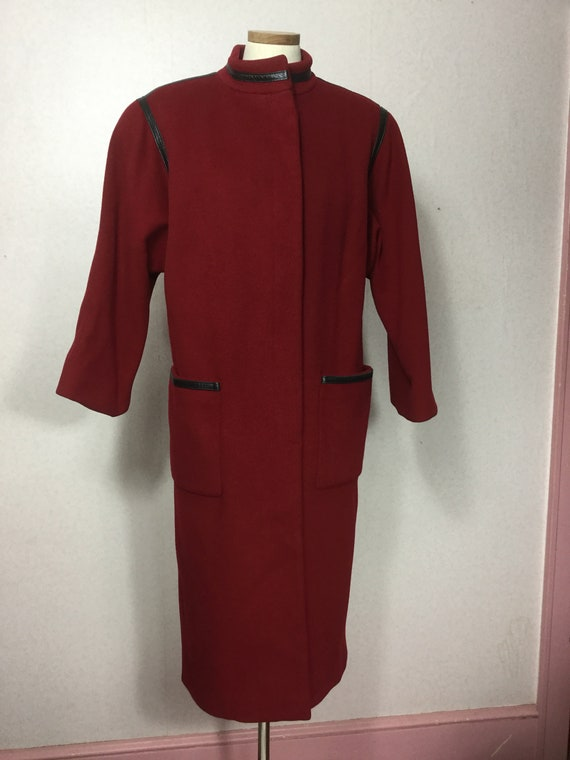 Trigere  Red wool Winter Coat,Pauline Trigere  lon